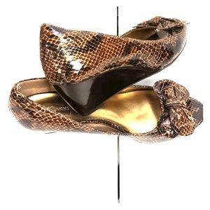 Anne Klein wedge peep toe dress shoes.